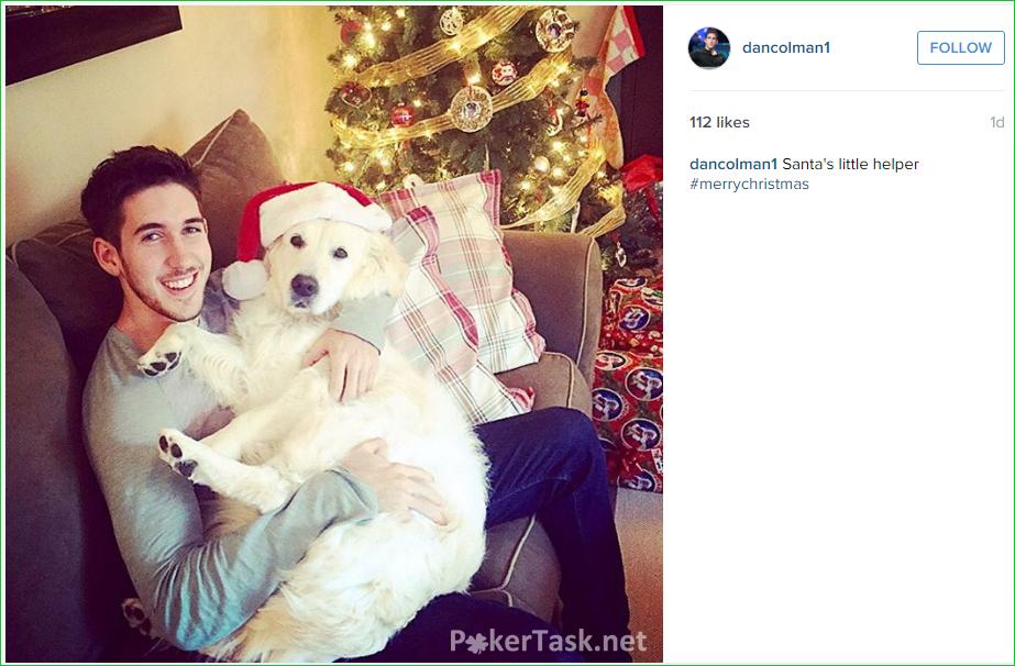 Дэниел Колман со своей собакой