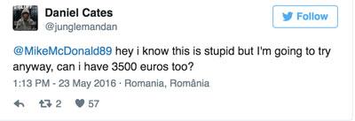 МакДональд раздает деньги в твиттере-3