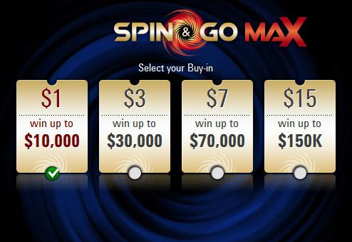 Призы в Spin&Go Max на PokerStars