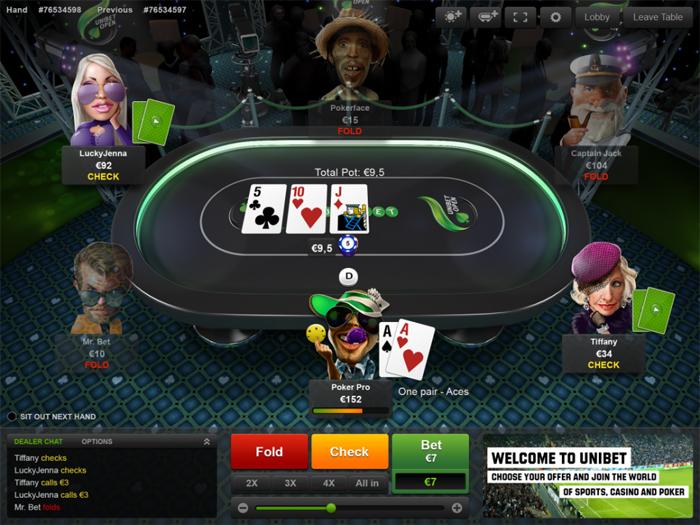 Скачать техасский покер Unibet