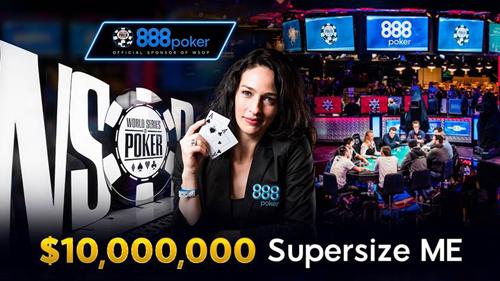 888Poker выплатит $10млн победителю WSOP 2017, пришедшему с их сайта
