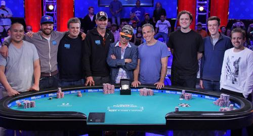 Финальный стол WSOP 2016 Main Event